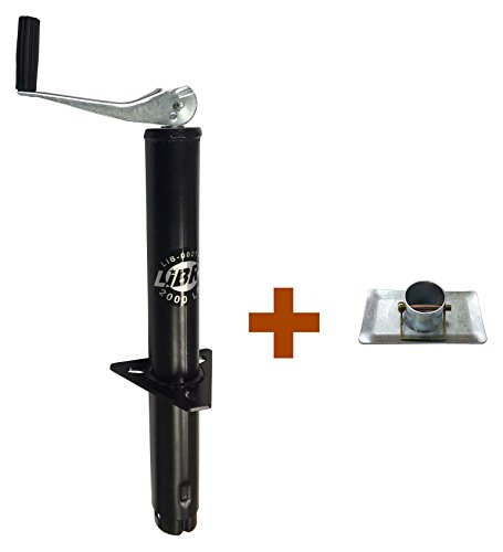 Libra New 2000 Lbs a Frame Topwind Trailer Camper RV Tongue Jack with Foot Plate 26003/26029 ()