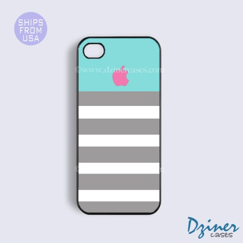 iphone 5s case, iphone 5s cover - Blue Pink Apple Iphone Cases, Grey White St...
