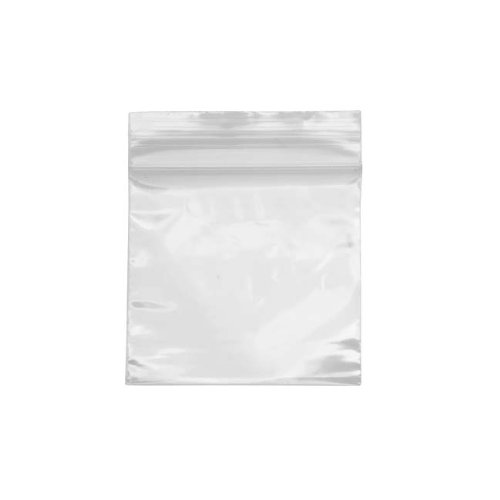 GOOACC GRC-54 ZDI-0202 100 Count Resealable Zipper Poly Bags, 2 by 2-Inch, 50mm, Clear