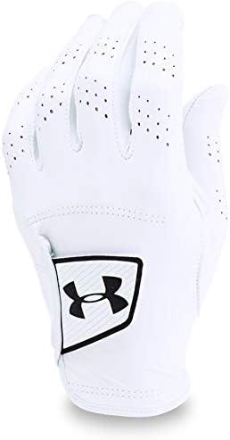 Under Armour Men s Spieth Tour Golf Glove,White 100 Black, Left Hand Large Cadet