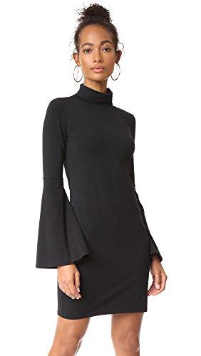 Bobi Womens Dress (bobi Women's Flare Sleeve Dress, Black, Large)
