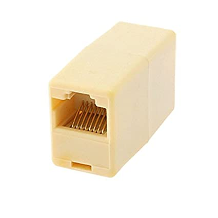 Amazon.com: eDealMax CAT RJ45 8P8C Mujer 5 adaptador de Cable de red Conector Joiner de la luz ámbar: Electronics