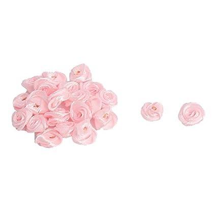 eDealMax Mujer de Raso Accesorios Mini decorativa de la Flor de las rosas 20 PCS Color