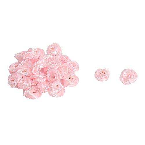 DealMux Mulher cetim Acessrios Mini artificiais Decorativas flores rosas 20 PCS-de-rosa