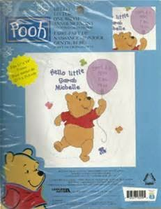 - Hello Little One Birth Announcement - Disney Home Pooh Collection (Janlynn #1132-50)