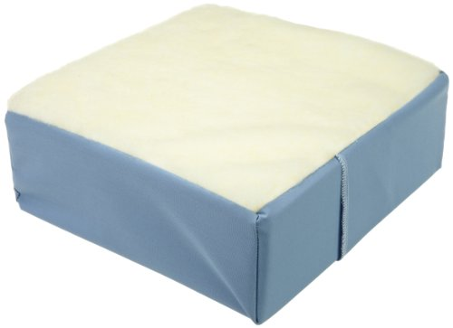 - Hermell Deluxe Wheelchair Cushion, Egg Crate Foam, Extra Thick, Removable Blue Cover - 5 Inches Thick