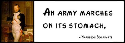 Wall Quote - Napoleon Bonaparte: An Army Marches on Its Stomach