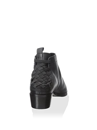 Ateljé 71 Noir Saxon Cireux Nappa En Cuir Bottine Taille 7,5 Us / 38.5 Eu