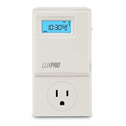 LuxPro 5 - 2 Programmable Outlet Thermostat (Heating & Cooling)