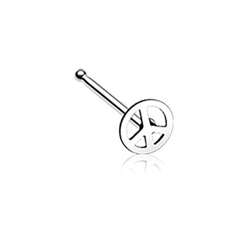 - 20 GA Peace Icon Nose Stud Ring Davana Enterprises (Sold Individually)