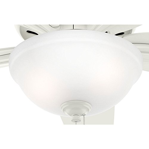 Hunter Fan Company 51080 Newsome Ceiling Fan with Light, 42''/Small, Fresh White by Hunter Fan Company (Image #4)