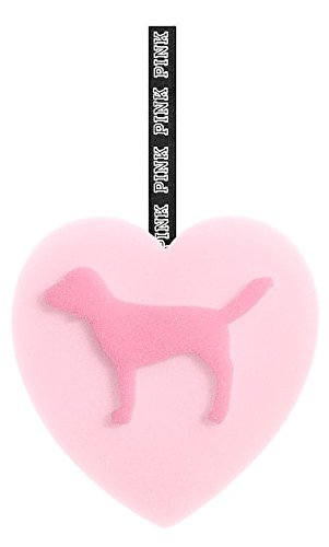 - VICTORIA SECRET - EXCLUSIVE - LIMITED EDITION - LOOFAH PINK HEART SHAPED BODY CLEANSING / EXFOLIATING SPONGE WITH PINK DOG LOOFA