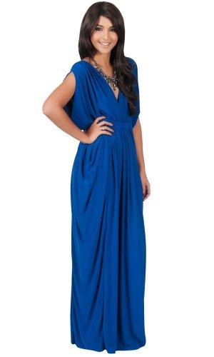 blue grecian dress - 1