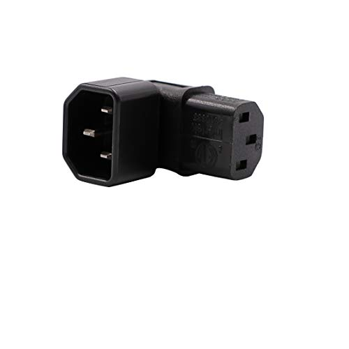 WYMECT IEC C14 to C13 Power Adapter PDU Plug/Socket Down 90 Degree for LCD Wall Mount TV 2 Pack - http://coolthings.us
