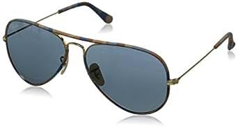 Rayban Gafas de Sol Aviator unisex 0RB3025, Lentes de Espejo Marrón-rosa Plata Lentes de Espejo/Marco dorado