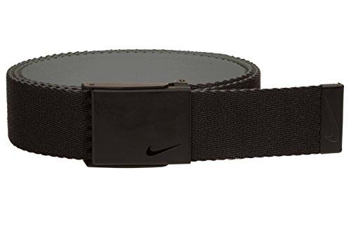 NIKE Men's Standard New Tech Essentials Reversible Web Belt, black/Charcoal, One Size from Nike