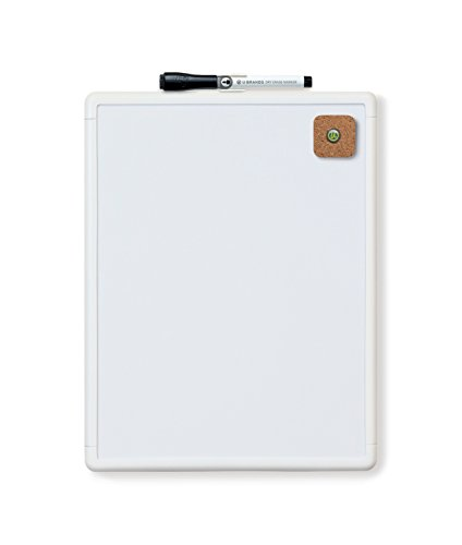 U Brands Contempo Magnetic Dry Erase Board, 8.5 x 11 Inches, White Frame ()