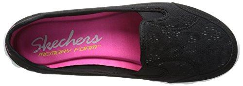 Donna Ballerine Skechers Black Flex white Easy 2 xIxqFUwB6