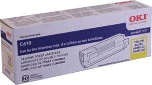 Oki C610 Series Yellow Toner, 6000 Yield - Genuine Orginal OEM toner