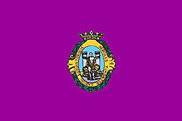 Banderas Online - Bandera de Cadiz con escudo Tamaño 150x100 ...