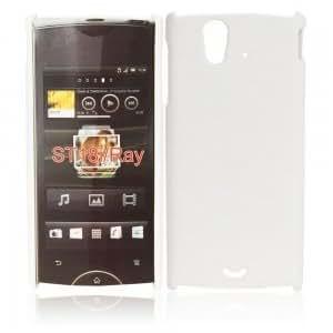 Matte Hard Shell Case for Sony Ericsson ST18i White
