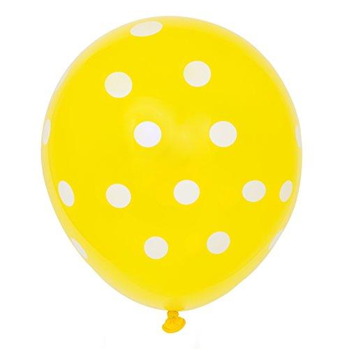 Latex Yellow Polka Dot Balloons
