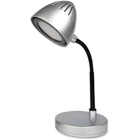 Lorell Silver Shade LED Desk Lamp   200 Lumens   Silver   Desk Mountable    For