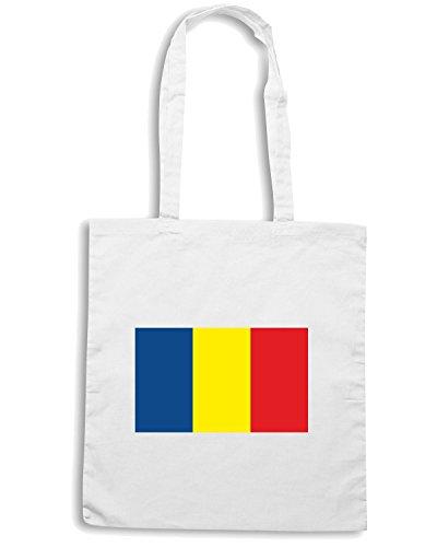 T-Shirtshock - Bolsa para la compra TM0155 Andorra flag Blanco