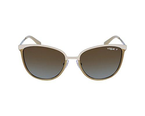 Vogue Eyewear Womens Sunglasses (VO4002) Brown/Brown Metal - Polarized - - Sunglasses Vogue Women