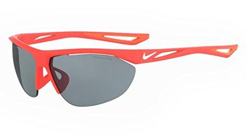 NIKE EV0916-600 Tailwind Swift Frame Grey with Silver Flash Lens Sunglasses, Matte Bright Crimson/White ()