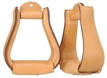 Tough-1 Leather Covered (Leather Western Stirrups)