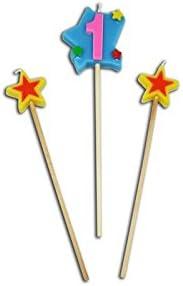 Sini Velas con Estrellas con el N/úmeros 1
