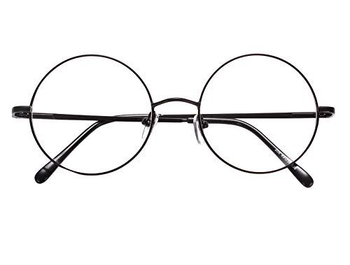 9729f92e21 Agstum Retro Round Prescription ready Metal Eyeglasses Frame (Large Size)