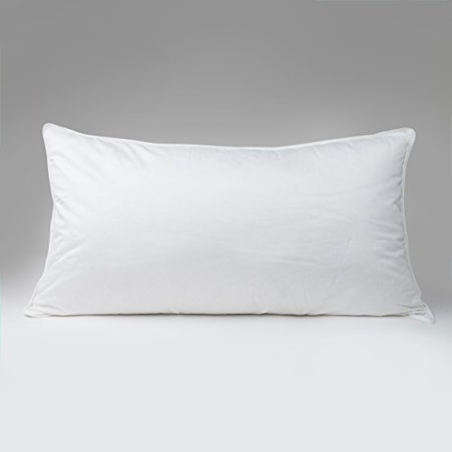 Continental Bedding 100% Premium White Goose Down Luxury Pillow, 550 Fill Power. (King)