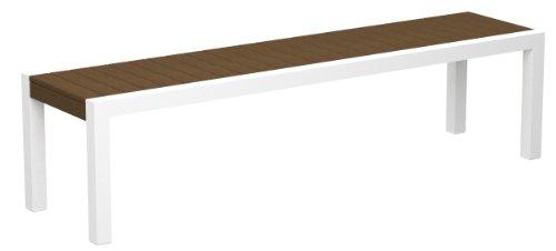 POLYWOOD 3800-10TE MOD Bench, Gloss White/Teak price