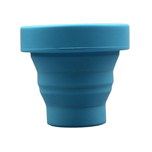 Laimeng, Fashion Travel Home Outdoor Silicone Folding Portable Child Gargle Cup (Blue)