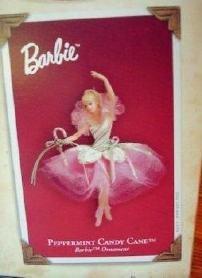 (2004 Hallmark Keepsake Ornament Peppermint Candy Cane Barbie)
