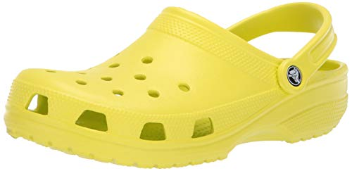 Crocs Men's and Women's Classic Clog, Comfort Slip On Casual Water Shoe, Lightweight, Citrus Green,12 US Women / 10 US Men