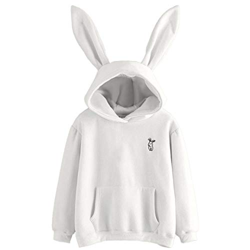 Longues Longues pour Capuche Longues Blouse Manches Femmes Femmes Sweat Manches Blanc Manches Bellelove Sweats Blouse Fashion Sweat pour Capuche Lapin RwqxTtw