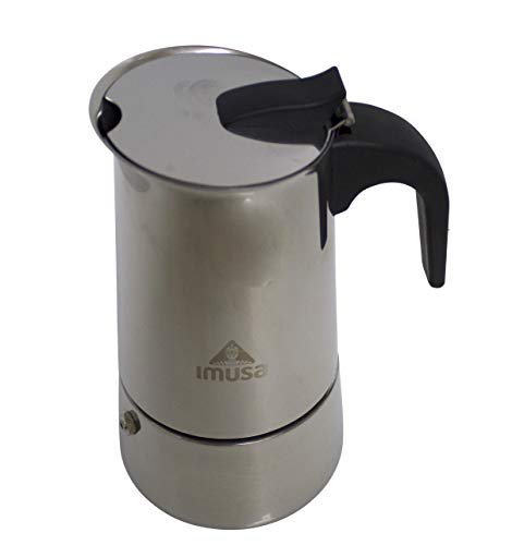 IMUSA USA B120-22062M Stainless Steel Stovetop Espresso Coffeemaker 6-Cup, Silver (Indian Coffee Percolator)
