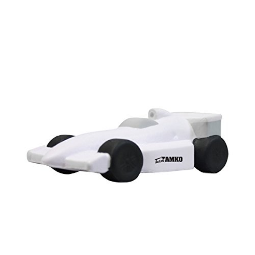 Indy/Formula Style Race Car Stress Reliever - White - Promotional Product - Your Logo Imprinted (Case Pack of 250)