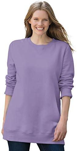Woman Within Women's Plus Size Fleece Sweatshirt