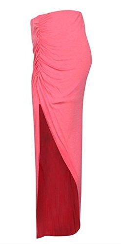 Stretchy Jupe En Jersey Style Simple De Femmes Maxi Corail t Viscose Ruched C Divis 7pwnqAT