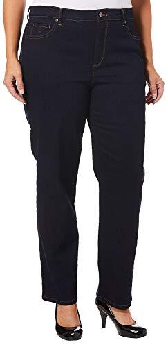 Gloria Vanderbilt Plus Size Women#039s Amanda Classic Tapered Jean Rinse Noir 20W Short