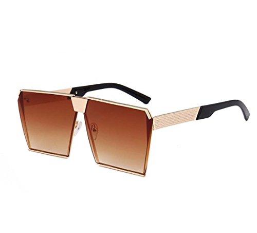 Arctic Star Retro Square Men and Women Sunglasses Cat's Eye Fashion Skeleton Sunglasses (C9, Gold box - Sunglasses C9