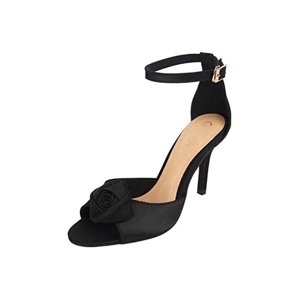 Catwalk Women's Rose Ankle Strap Stilettos