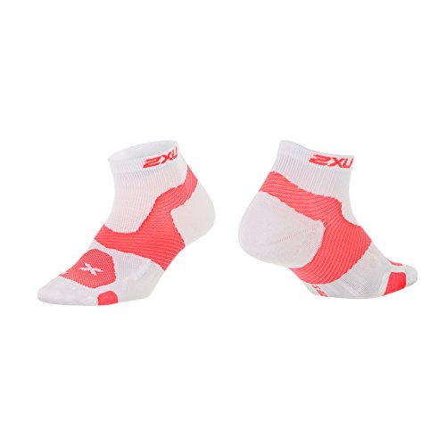 alcance para Vectr blanco calcetines 2 x mujer largo Rot U de qYPY0X