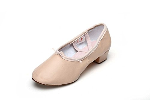 JINFENGKAI Women's Latin Dance Shoes Pink-Leather OiFgyJPfOG