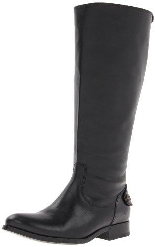 FRYE Women's Melissa Button Back-Zip Boot, Black Wide - Frye Melissa Black Boot