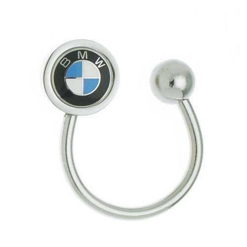 BMW Genuine Roundel Horseshoe Key Chain Ring OEM